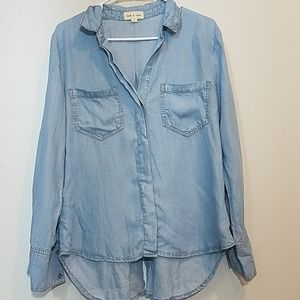 Cloth and stone split back Chambray Button down